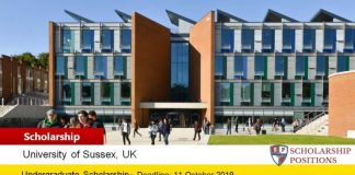 Sussex University UK, 2019 Sports Scholarships Scheme for International Students