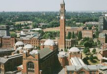 Fulbright Award for US Students in the UK, 2019 University of Birmingham