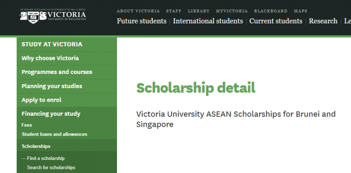 Victoria University ASEAN Scholarships for Brunei and Singapore in New Zealand | How To Apply