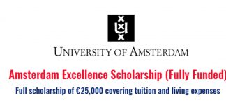 Amsterdam Excellence Scholarships