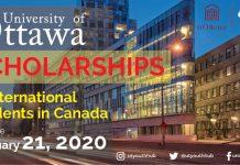 International Scholarships in University of Ottawa, Canada 2021