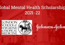 Johnson & Johnson Global Mental Health Scholarships 2021/2022  Global Scholarship Forum