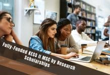 KESS II MSc by Research Scholarship