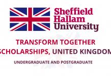 Transform Together Scholarships 2021