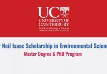 Sir Neil Isaac Scholarship
