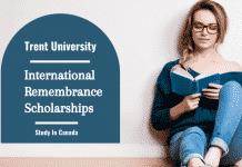 Trent University International Remembrance Scholarships