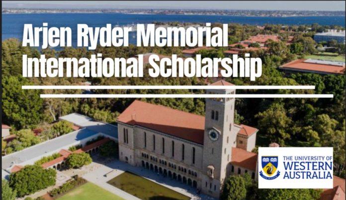 Arjen Ryder Memorial International Scholarship