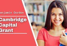 Benjamin Gordon Cambridge Capital Grant, USA