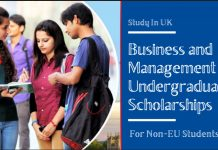 Business and Management Undergraduate Financial Aid for Non-EU Students