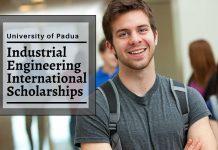 Department of Industrial Engineering international awards at University of Padua, Italy