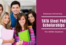 Fully Funded TATA Steel PhD Scholarship at Swansea
