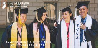 Haywood Hunt & Associates Inc. Scholarship