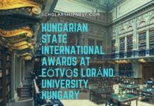 Hungarian State International Awards at Eötvös Loránd University