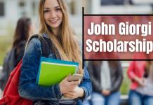 John Giorgi Scholarship in USA