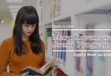 Marc Ravenscroft Grant Program in USA
