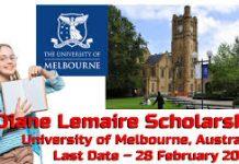 Melbourne International Diane Lemaire Scholarships in Australia
