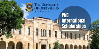 PhD International Awards in Computer Vision and Machine Learning at University of Queensland, Australia