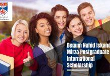 St Andrews Begum Nahid Iskander Postgraduate International Scholarship