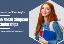The Norah Simpson Scholarships for International Students