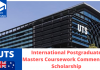 UTS International Postgraduate Masters Coursework Commencing Scholarships, Australia