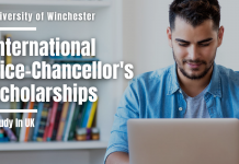 University of Winchester International Vice-Chancellor's Scholarships
