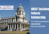 University of Greenwich GREAT Sustainable Futures Scholarship