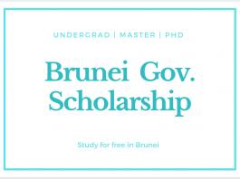 Brunei Government Scholarship 2021