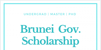 Brunei Government Scholarship 2021