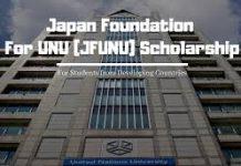 Japan Foundation United Nations University Scholarships 2021