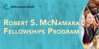 World Bank Robert S. McNamara (RSM) Fellowship 2021